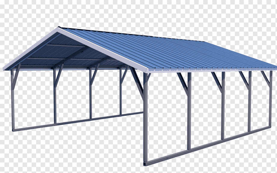 Roof Carport Metal Framing Garage Steel Roof Angle Outdoor