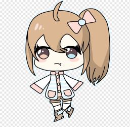 Chibi Drawing Anime Rin Okumura Art Chibi mammal child face png PNGWing