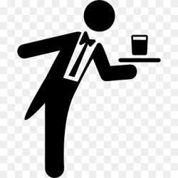 Computer Icons Waiter Restaurant Icon design waiter text hand logo png PNGWing