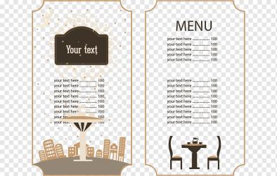 Price menu illustration Cafe Menu Brunch Restaurant Food Continental restaurant menus text new Year menu Template png PNGWing