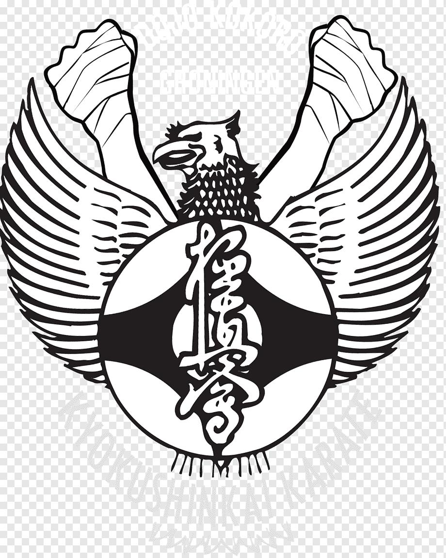 Garuda Png Logo : garuda, National, Emblem, Indonesia, Pancasila, Garuda, Symbol,, Waitakere, Kyokushin, Karate,, Logo,, Vertebrate,, Monochrome, PNGWing
