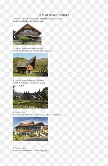 Rumah Adat Batak Png : rumah, batak, Batak, Images, PNGWing