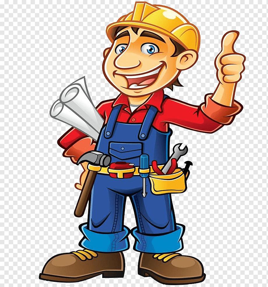 Gambar Animasi Pekerja Bangunan