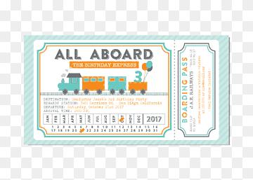 wedding invitation train ticket