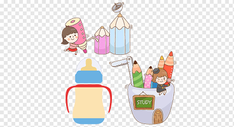 Drawing Pencil Cartoon Cute little girl learning to hold a pencil child food fashion Girl png PNGWing