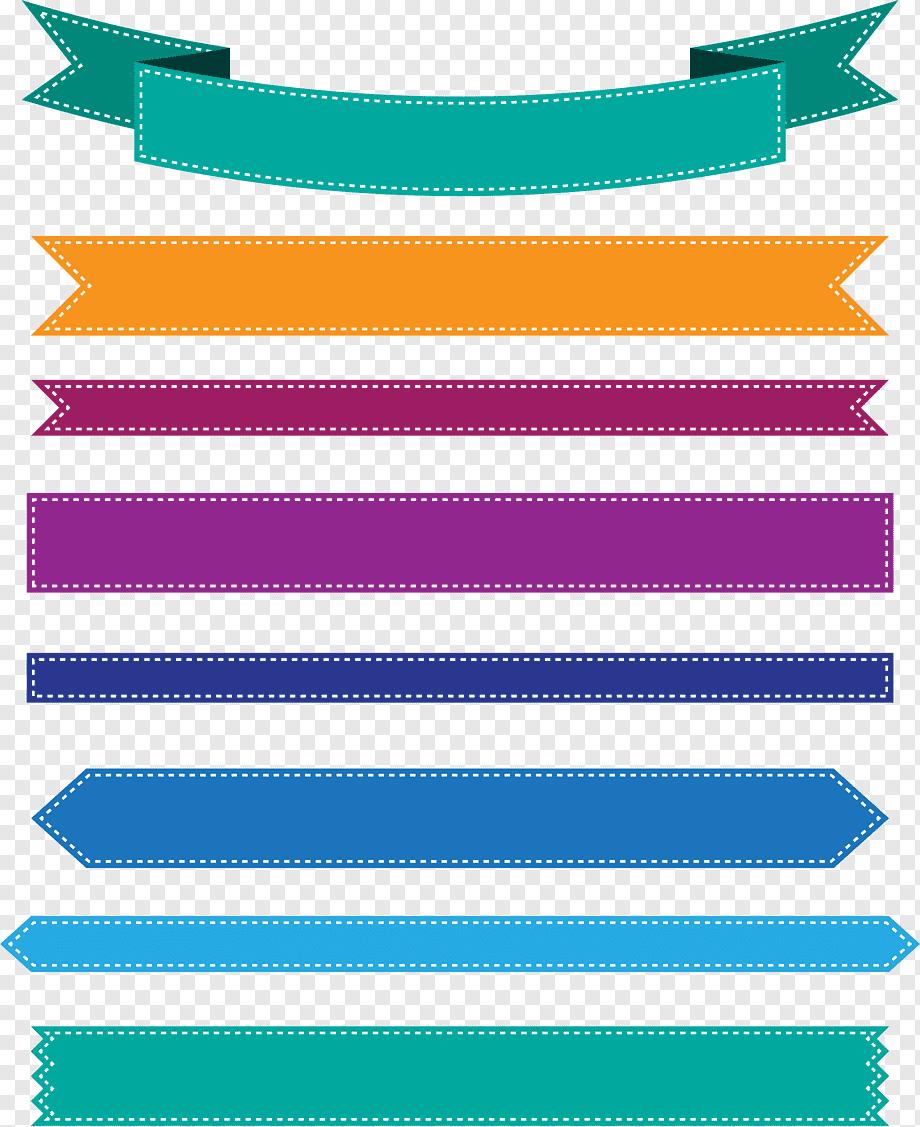 Banner Ribbon Png : banner, ribbon, Colorful, Ribbon, Banner,, Colourful,, PNGWing