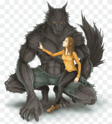Gray wolf YouTube Wolf Boy Werewolf Art werewolf dragon fictional Character anime png PNGWing