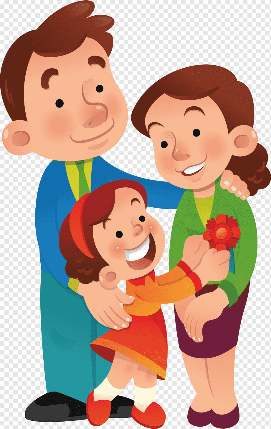 Family Photo Cartoon : family, photo, cartoon, Animation, Cartoon, Family,, Love,, Character,, Template, PNGWing