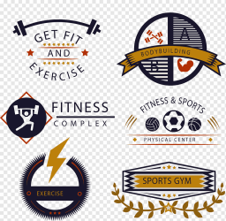 Fitness logos collage Fitness centre Golds Gym Logo fitness icon template emblem physical Fitness png PNGWing