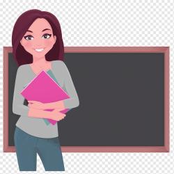 Student Teacher Cartoon Classroom Red cartoon teacher decoration pattern child class geometric Pattern png PNGWing