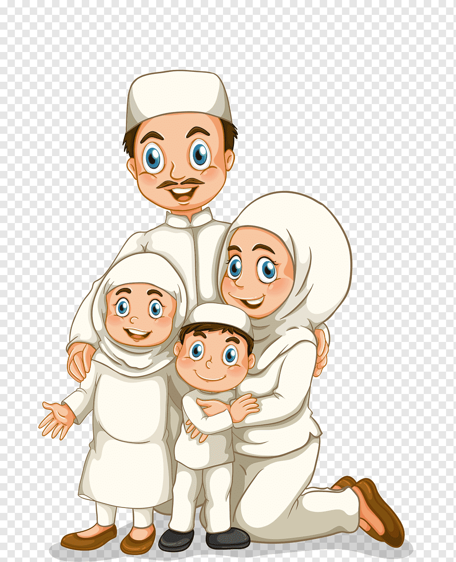 Keluarga Muslim Png : keluarga, muslim, Family, Graphy, Muslim, Illustration,, Islamic, Family,, Hand,, People,, PNGWing