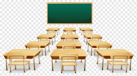 Classroom Cartoon school furniture class blackboard png PNGWing