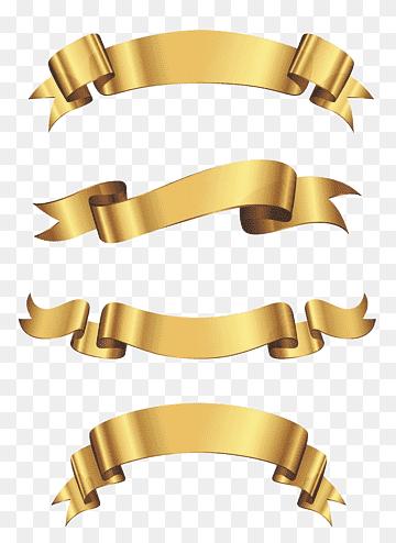 Logo Pita Emas : Ilustrasi, Emas,, Spanduk, Biru,, Pita,, Gambar, Format, PNGWing