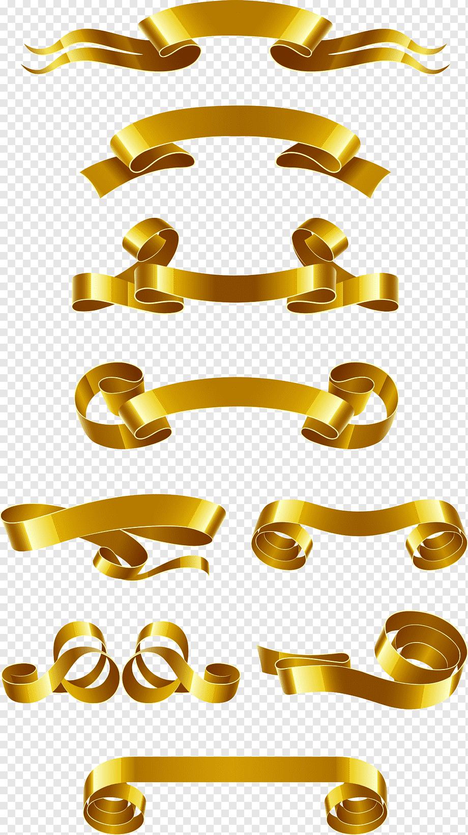 Logo Pita Emas : Banner, Ribbon, Euclidean,, Bahan, Spanduk, Emas,, Banyak, Lainnya,, Teks,, PNGWing