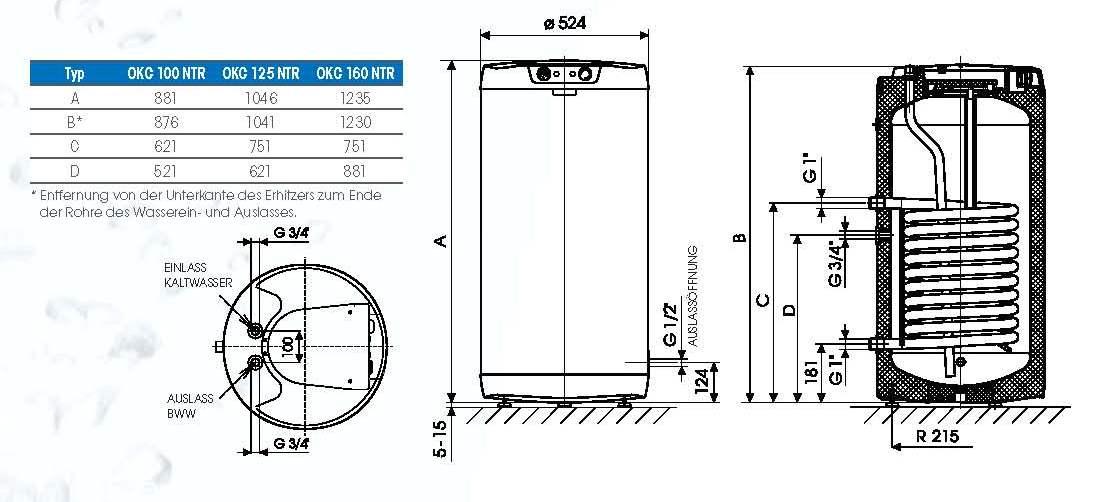 200 Liter Boiler Standspeicher Warmwasserspeicher mit 2