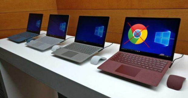 Windows 10 S не обрадует наличием Google Chrome