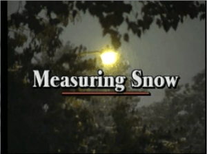 "Title screen from ""Measuring Snow"" video"