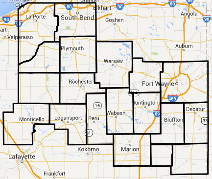 Dense fog advisory map