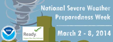 Severe Weather Preparedness Week banner graphic