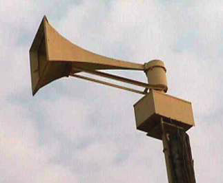 Relying on outdoor warning sirens is dangerous (photo of a siren)