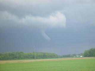 Photo of cold air funnel