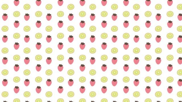 大人かわいいフルーツ柄の包装紙