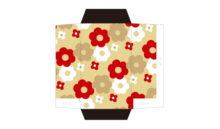 北欧テイストな花柄のポチ袋