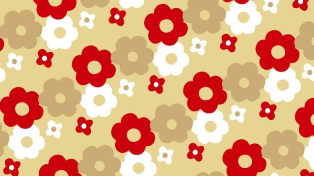 北欧テイストな花柄の包装紙