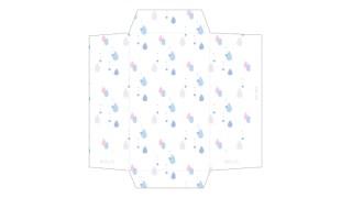 雨降りパラパラ。雫柄のポチ袋
