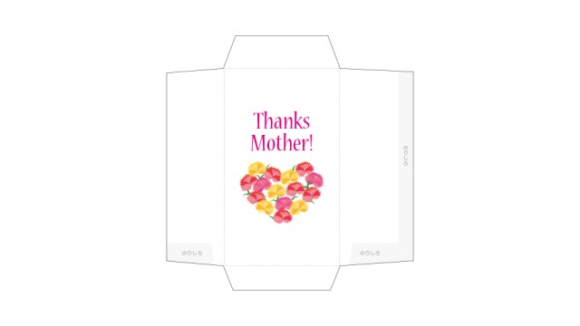 母の日に気持ちを伝えよう!花束カーネーションのポチ袋