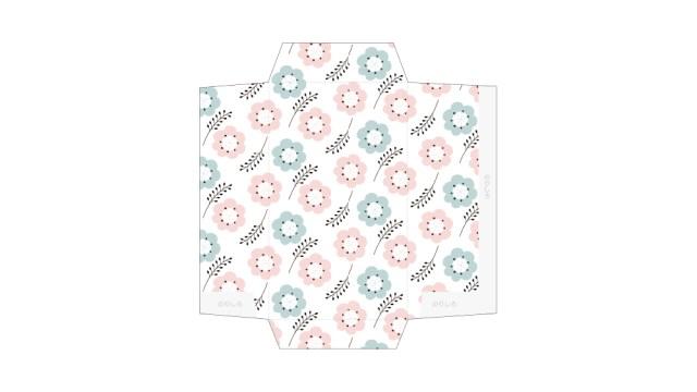 北欧風のお花がかわいい!ポチ袋