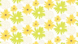 北欧風のお花がかわいい!シトラスカラーの包装紙