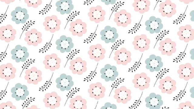 北欧風のお花がかわいい!包装紙