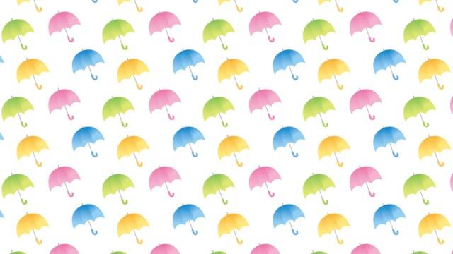 雨でもいい気分♪傘柄の包装紙