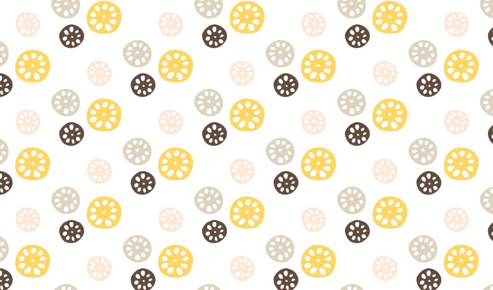 カラフルれんこん柄の包装紙