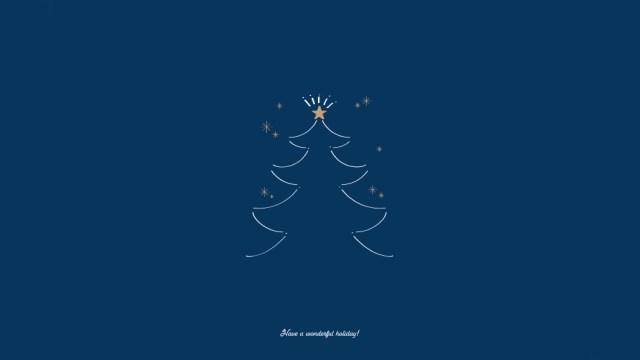 聖夜に灯るクリスマスツリーののし紙