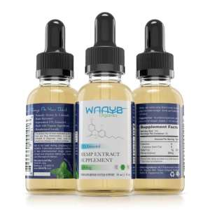 All Natural Mint Hemp Extract Oil by WAAYB Organics
