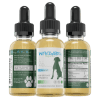 WAAYB Organics Hemp Extract Oil for Pets all three sides of the bottle