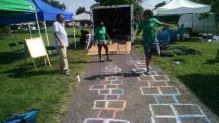 Hopscotch at the National Night Out at River Terrace