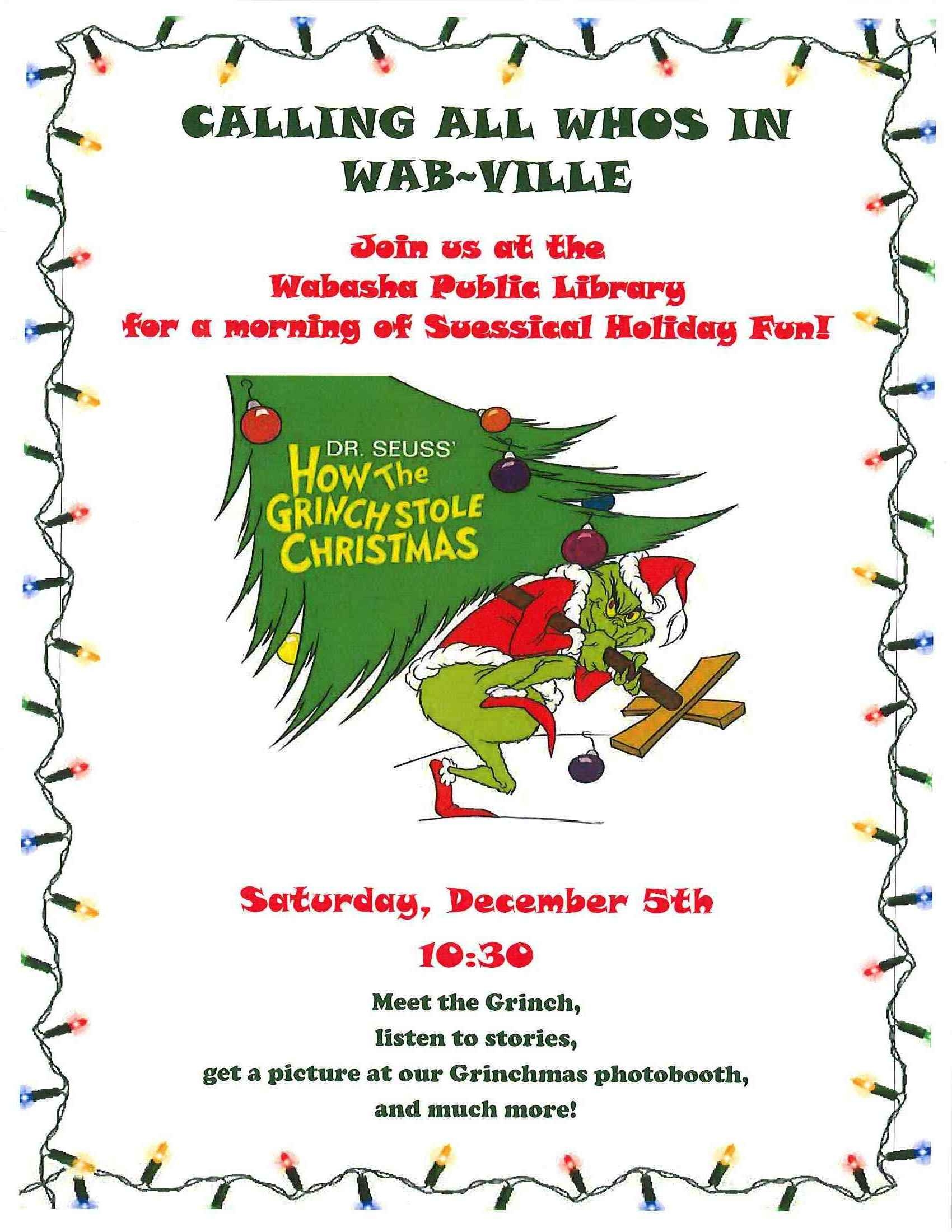 Seussical Holiday Fun On December 5th At 10 30 A M