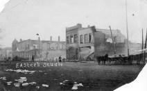 1913 Fire on Main Street, Eskridge, Kansas