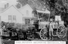 Tony Peterson Delivering Groceries, Maple Hill, Kansas