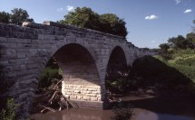 Charles Herman photographed this view of the Clements Bridge in Chase County. At one time, there were literally hundreds of stone arched bridges in Wabaunsee County.