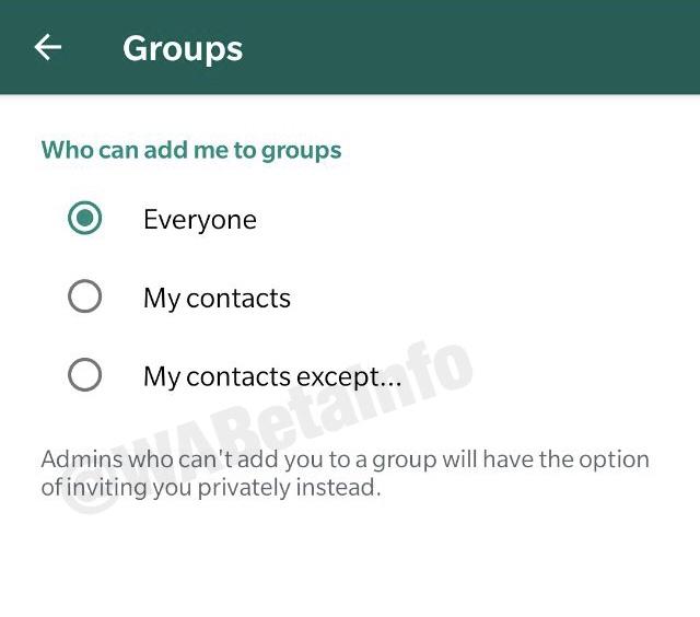 Android GPS - إعداد جديد يجعل قرار الانضمام إلى مجموعات واتساب بيد المستخدم
