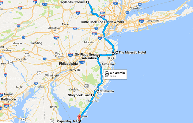 New Jersey Holiday Light Display Road Trip Map