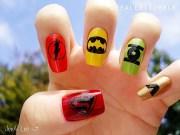 superhero manicures comic strips