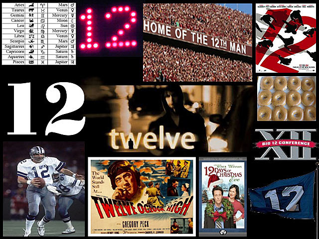 12-12-12: Twelve Random Facts About the Number 12 (Revisited)