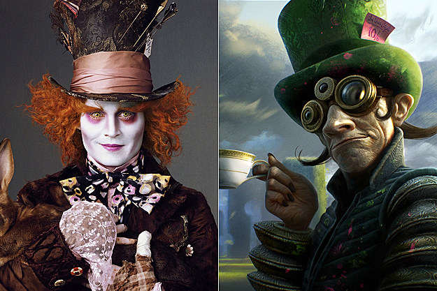 Mad Hatter early concept art