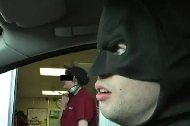 Batman in Real Life Has Trouble at the DriveThru