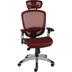 Swivel Chair Not Staying Up Desk In Spanish Staples Hyken Technical Mesh Task Black About Red